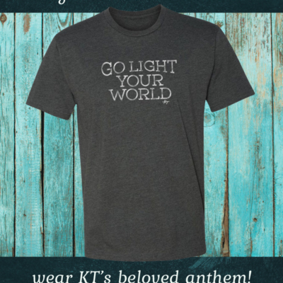 Go Light Your World T-shirt - Kathy Troccoli