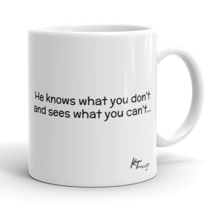 Kathy Troccoli mugs: He knows what you don't and sees what you can't